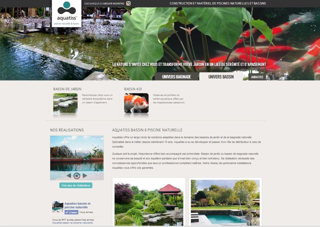 Présentation du nouveau site internet de la marque Aquatiss - bassin naturel et baignade bio