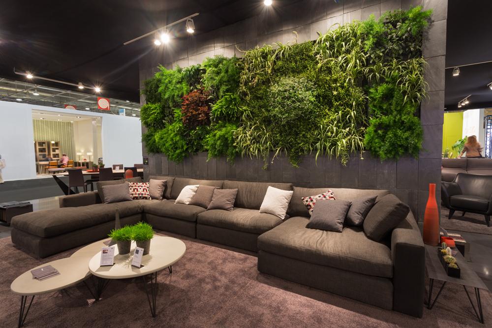 Mur végétal design - Stand Triss sur Maison et Objet 2015